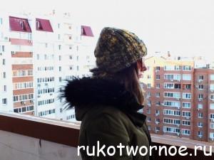 шапка с отворотом и снуд в три оборота (2)