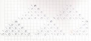 Ажурный узор Треугольники. Ажур спицами схема