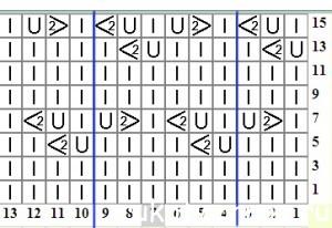 трилистник_Узор_схема