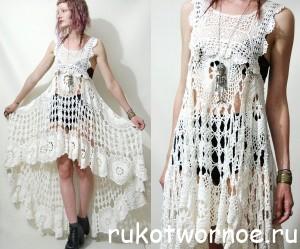 платья крючком +